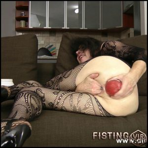 Fishnet anal self fisting – Full HD-1080p, Solo, anal and vaginal fisting (Release December 24, 2016)
