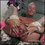 I fill milk in my bubble and with lady-isabell – Full HD-1080p, Solo, Dildo, Big Toys, anal and vaginal fisting (Release December 18, 2016)