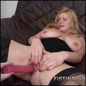 Hot cunt drilling session – HD-720p, Solo, fatty girl, anal and vaginal fisting (Release January 19, 2017)