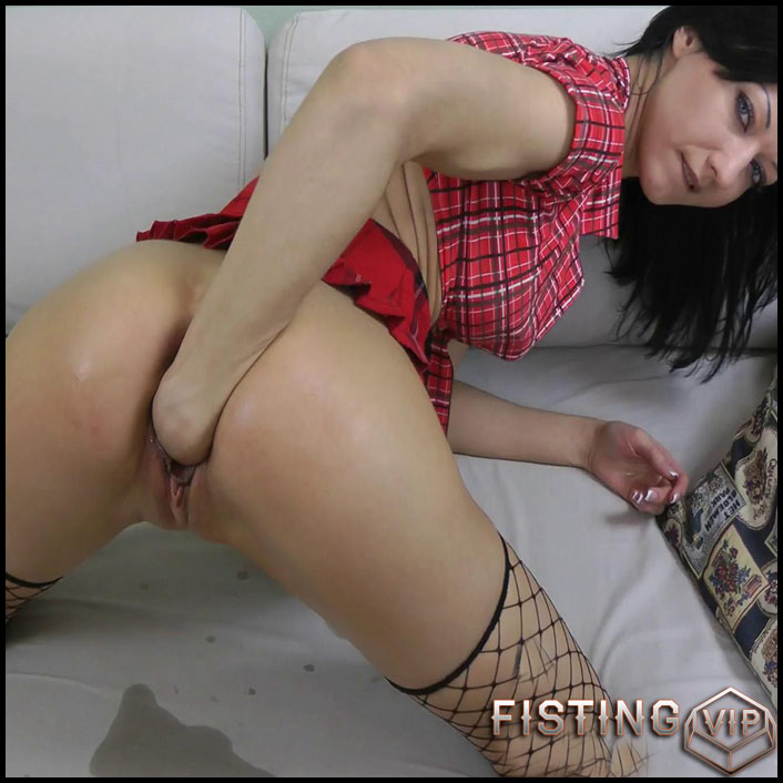 Short Skirt Both Holes Fisting - Full HD-1080p, Fisting, Insertion, Dildo (Release January 28, 2017)