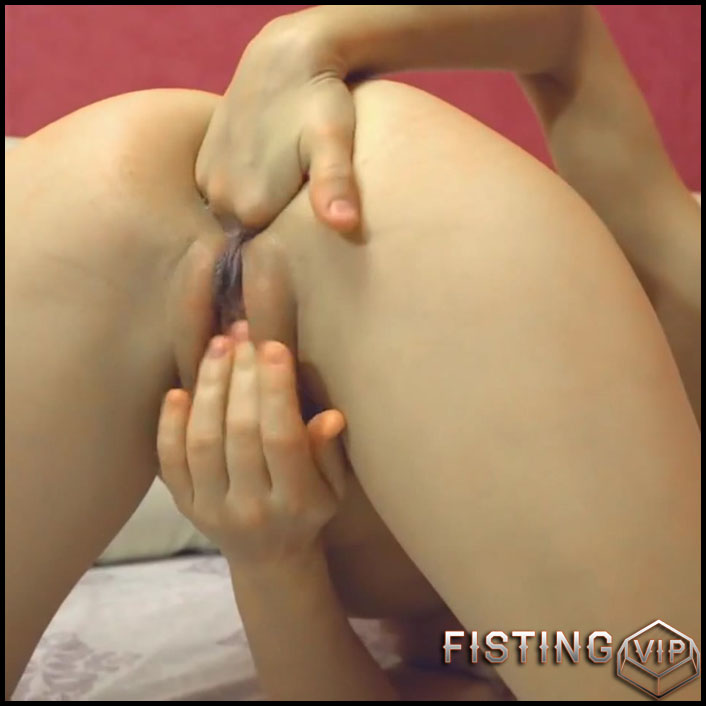 Fisting Hot asshole blond