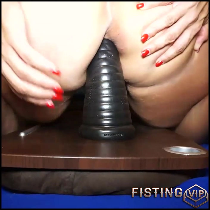 Daddy gave cum whore a new toy to play with - Full HD-1080p, Giant Dildo, Toys, Solo, Anal (Release February 3, 2017)