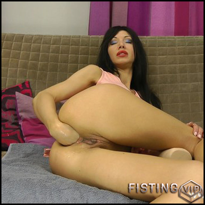 HotKinkyJo - Pink dress and rubber fist - Full HD-1080p, Giant Dildo, Toys, Solo, MILF, dildo, anal play (Release February 18, 2017)2