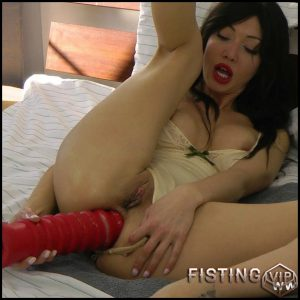 Hotkinkyjo- Sexy body suit and red anal terrorist – Full HD-1080p, Solo, Biggest Dildo, Anal, Toys, Masturbation (Release February 16, 2017)