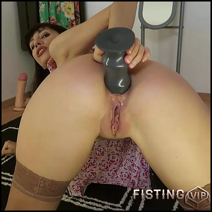 Mylene - Big butt plug huge dildo fuck facial - Full HD-1080p, Anal, BlowJobs, dildo (Release February 2, 2017)1