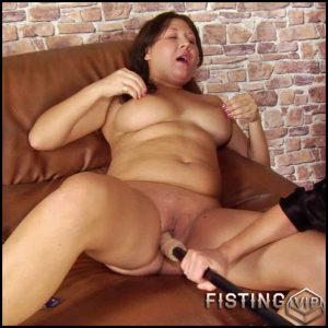 Obedient undressed woman enjoys unexpected dildo DP sex – HD-720p, hardcore fisting, lesbian fisting (Release March 04, 2017)