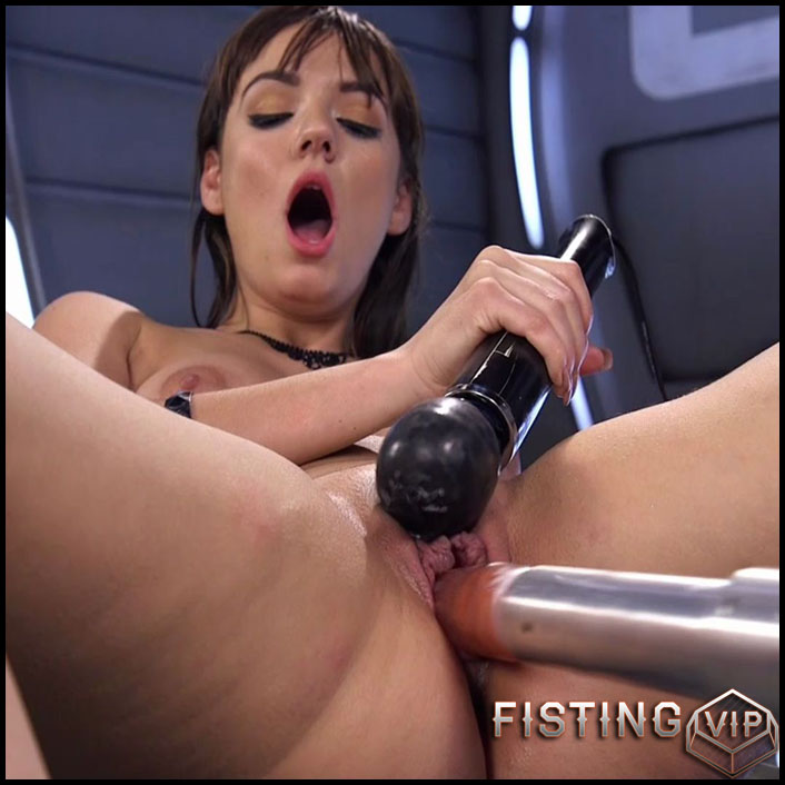 First timer with Big Natural Tits gets Fucked into Oblivion - HD-720p, Sex Machine, Vibrator, AnalToys, Brunette (Release April 9, 2017)