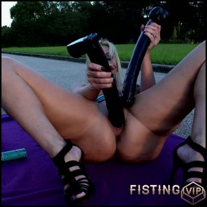 On The Road Again – Naughty Alysha – Full HD-1080p, monster dildo, pussy insertion, anal (Release May 17, 2017)
