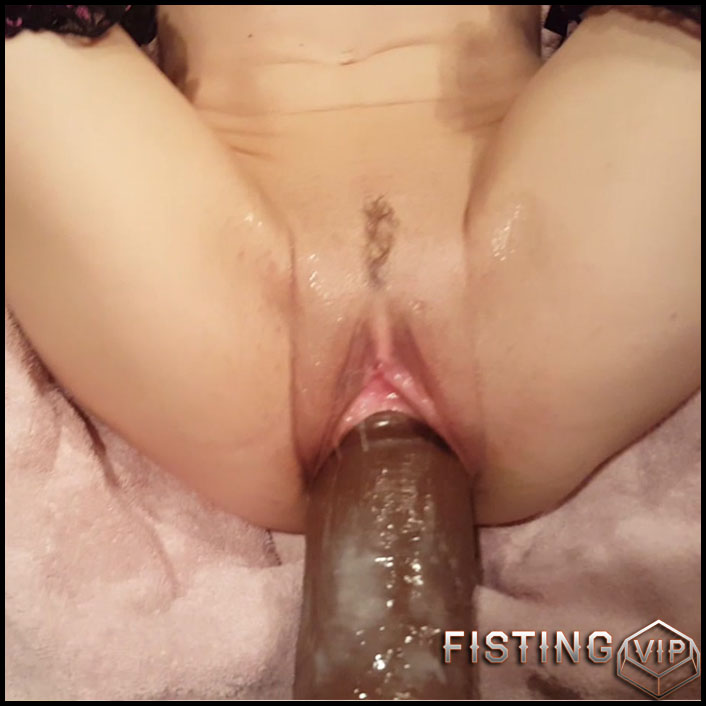 Conquering 12 inch King Cock - HD-720p, monster dildo, pussy insertion, pussy fisting (Release June 6, 2017)2