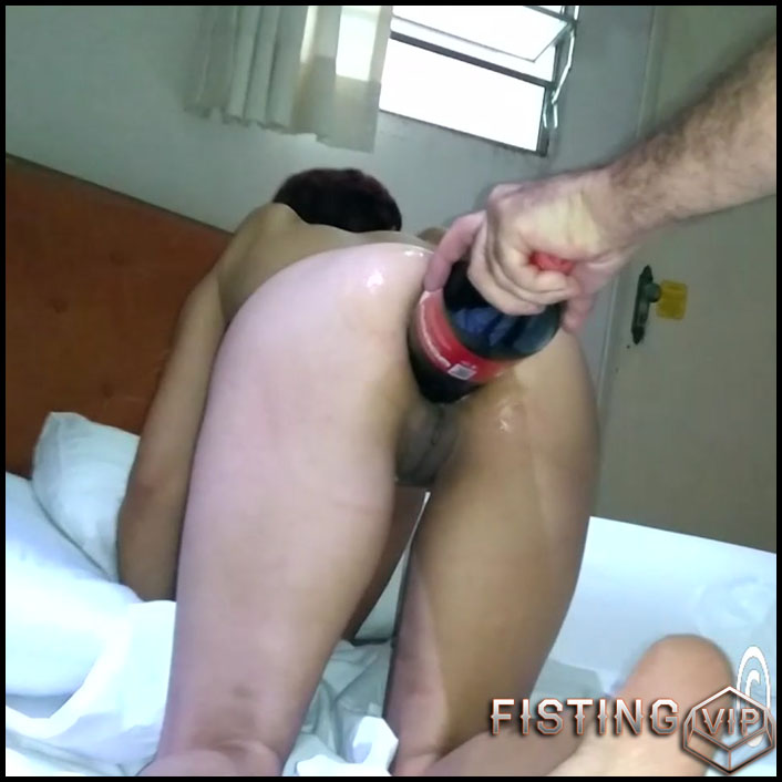 Mature anal with bottle