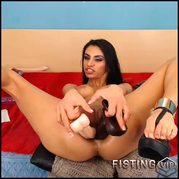 Latin girl anal prolapse porn after double dildo fuck - dildo anal, prolapse, prolapse ass, webcam (Release June 16, 2017)1
