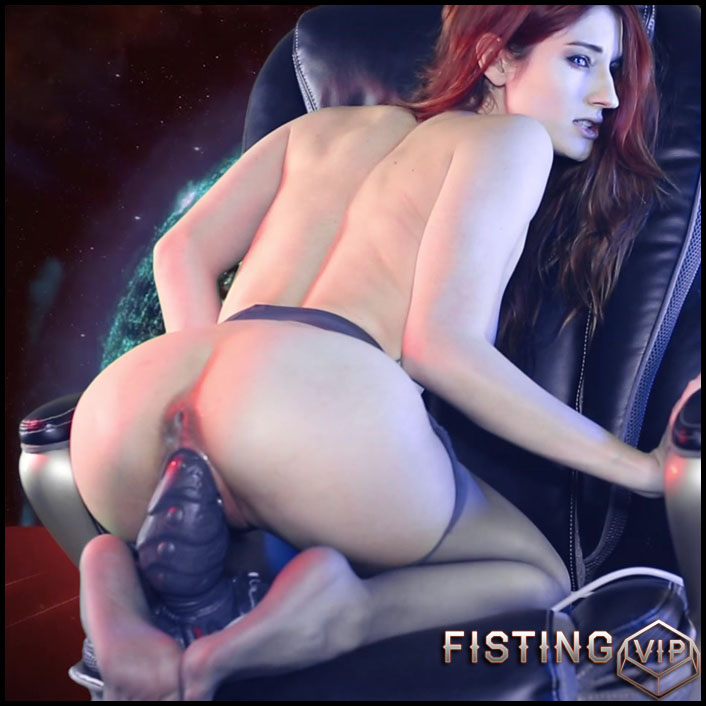 MiaRand riding on a monster bad dragon dildo - Full HD-1080p, colossal dildo, pussy insertion, toys (Release June 14, 2017)1