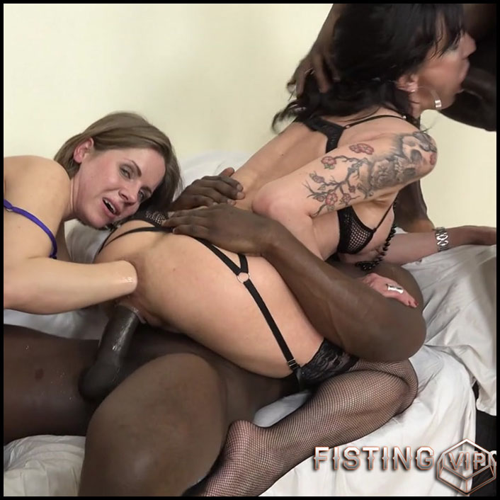 Sasha Zima & Lyna Cypher know how to spice three black guys day. Fisting kinky sex and rough play- HD-720p, hardcore fisting, lesbian fisting, double fisting (Release June 13, 2017)2
