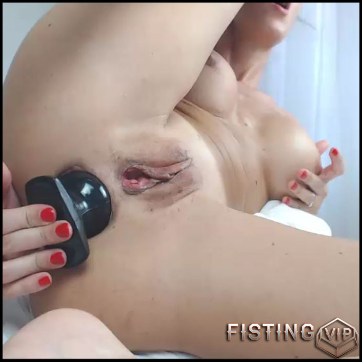 Busty milf Sofia Star double dildo fuck to gaping closeup - double dildo, anal, huge dildo, long dildo (Release July 3, 2017)2