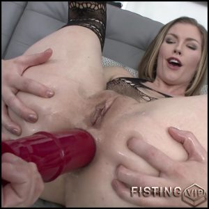 Ella Nova gets big dildo deeply in her anus gape  – HD-720p, huge dildo, long dildo, dildo anal, double penetration (Release July 25, 2017)