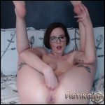 Horny girl throat gaggers and solo fisting sex webcam – anal fisting, solo fisting, long dildo, webcam (Release July 2, 2017)