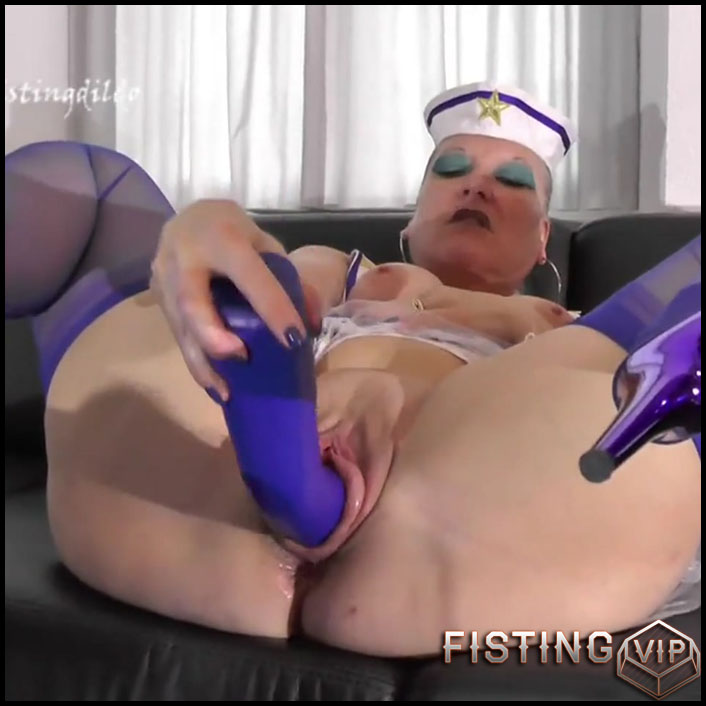 Matrosin fucks fisting dildo with Hotvaleria - Full HD-1080p, big pussy fisting, huge dildo, long dildo (Release July 27, 2017)