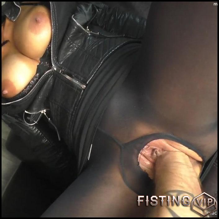 NYLON PUSSY FISTING with MACHINE-BITCH - Full HD-1080p, big pussy fisting, extreme pussy fisting (Release July 4, 2017)