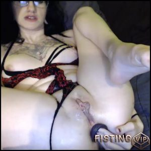 Tattooed camgirl double dildo penetration solo – dildo anal, double dildo, double penetration, huge dildo (Release July 4, 2017)