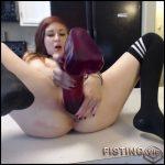 Giant dildo fucking orgasms – HD-720p, long dildo, monster dildo, pussy insertion (Release September 1, 2017)