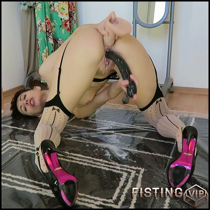 Mylene - Milk enema amp both holes fucking - Full HD-1080p, solo fisting, double fisting, Toys (Release August 13, 2017)1