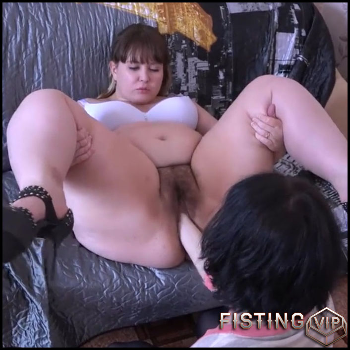Russian hairy bbw gets fisted in different poses - HD-720p, bbw fisting, lesbian fisting, pussy fisting (Release July 30, 2017)