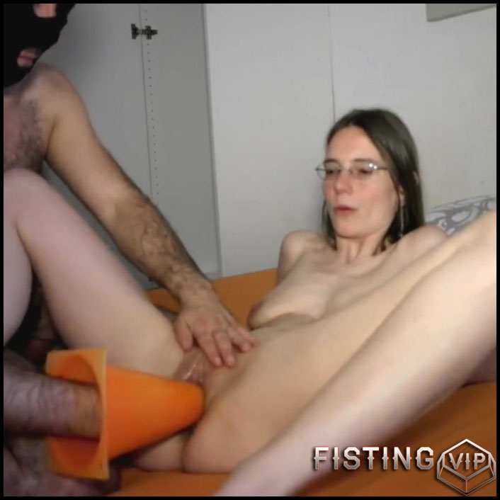Creamy pussy milf fuck herself with a huge dildo at home amateur slut mom