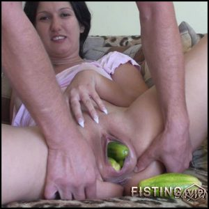Double Veggie- HD-720p, big pussy fisting, dildo anal, huge dildo (Release September 25, 2017)
