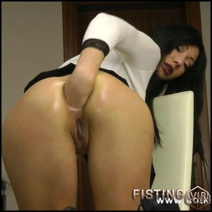 Hotkinkyjo – White and black anal fisting – Full HD-1080p, solo fisting, anal prolapse (Release September 20, 2017)