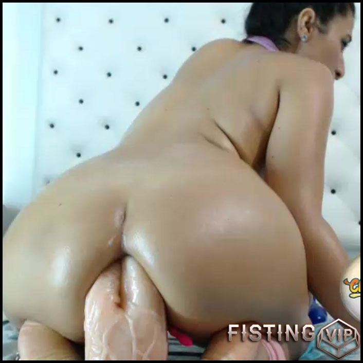 Creamy Solo Girl Riding Dildo