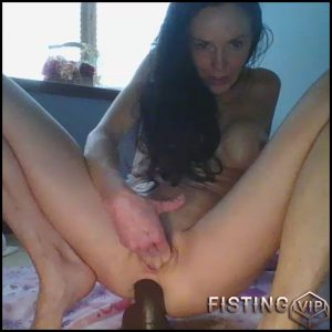 Lilrosiedoll triple dildo penetration in pussy and anal to squirt – dildo anal, double dildo, triple penetration, webcam (Release October 20, 2017)