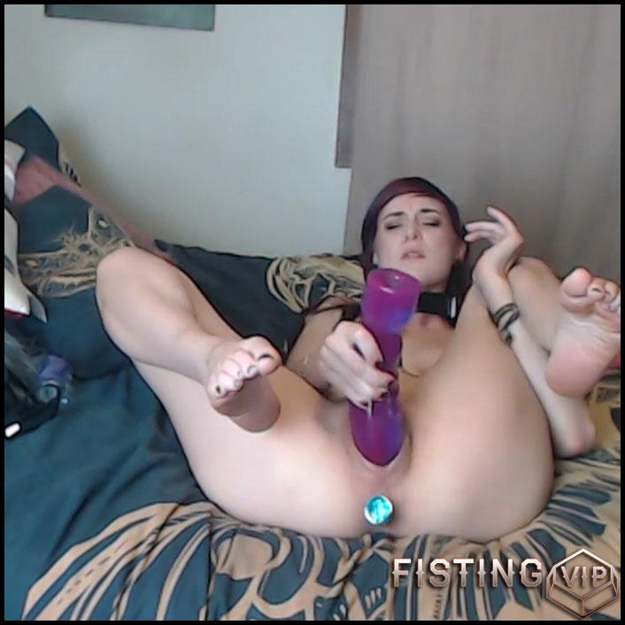 Mollys giant dildo orgasms - Mohawkmolly - HD-720p, huge dildo, long dildo, webcam (Release October 8, 2017)