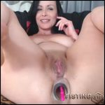 Perverted big ass milf solo rides on a more huge dildos – colossal dildo, dildo penetration, dildo porn (Release October 25, 2017)