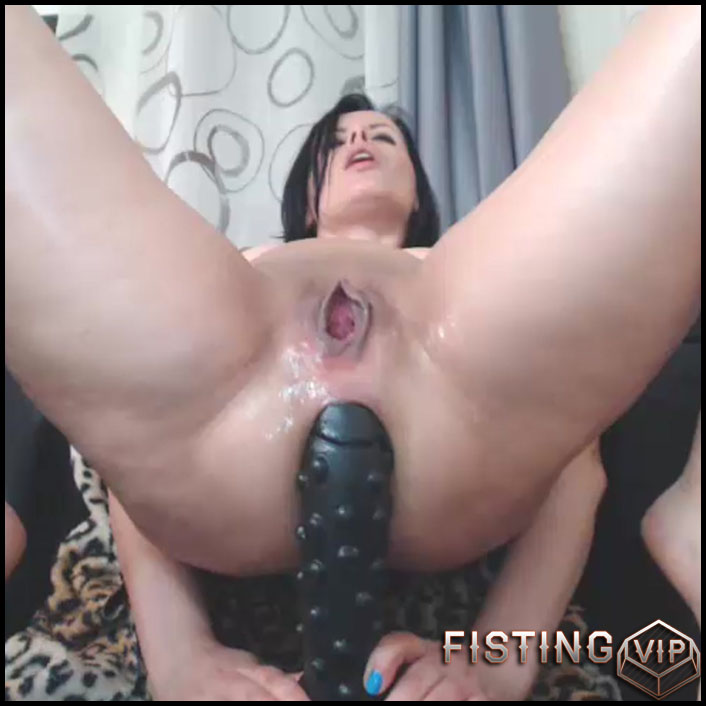 Perverted big ass milf solo rides on a more huge dildos - colossal dildo, dildo penetration, dildo porn (Release October 22, 2017)1