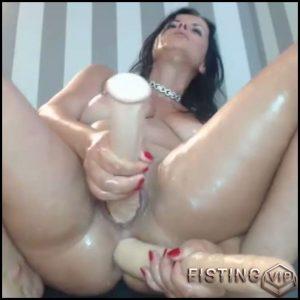 Unique webcam girl double dildo hardcore penetration herself – dildo anal, double dildo, double penetration (Release October 31, 2017)