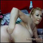 Analsexnasty anal prolpase and gape stretching solo – solo fisting, anal fisting, huge dildo (Release November 28, 2017)