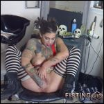 Extremistkinkster SKITZO kitty pt 2 – dirty tattooed teen fisting sex – huge dildo, pussy fisting, solo fisting (Release December 12, 2017)