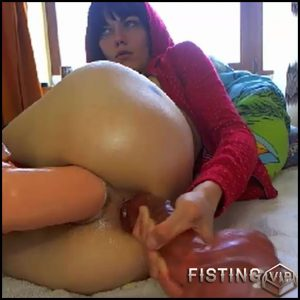 Big ass tattooed whore rides on a epic dildo and auto gaping asshole – colossal dildo, huge dildo, long dildo (Release January 1, 2017)