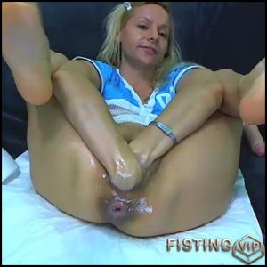 Dirty girl double fisting sex herself hardcore – RaisaWetsX – double fisting, monster dildo, pussy fisting (Release December 15, 2017)