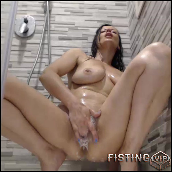 Games in the shower - long dildo, anal video (Release December 9, 2017)1