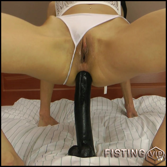Hotkinkyjo BBC dildo fully anal - Full HD-1080p, solo fisting, dildo anal, fisting herself (Release December 20, 2017)2