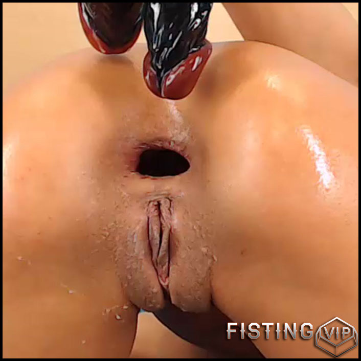 Double Dildo Anal Pussy