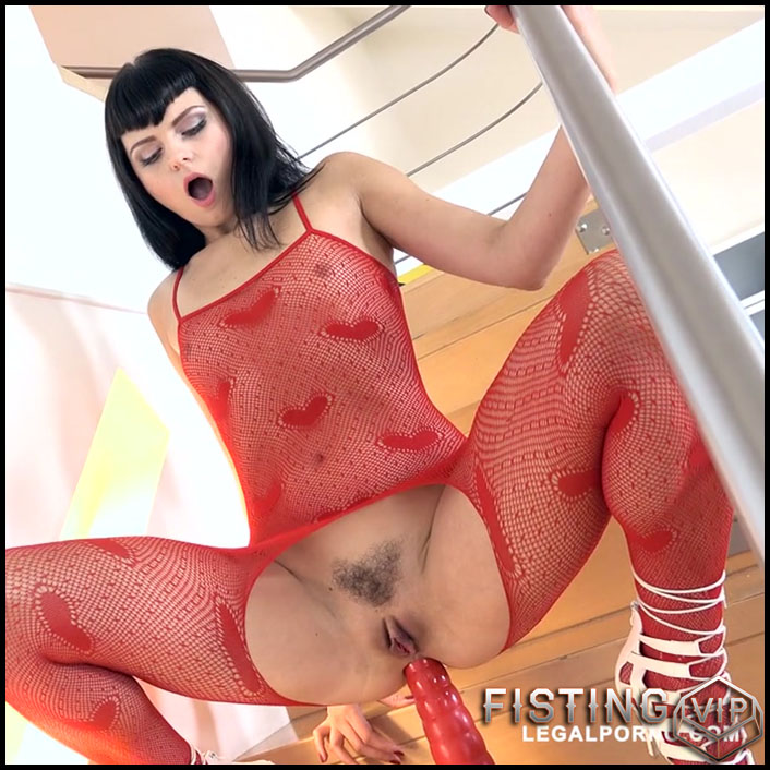 Sonya Durganova rides on a monster red dildo anal - HD-720p, dildo anal, dildo riding, huge dildo (Release January 26, 2017)