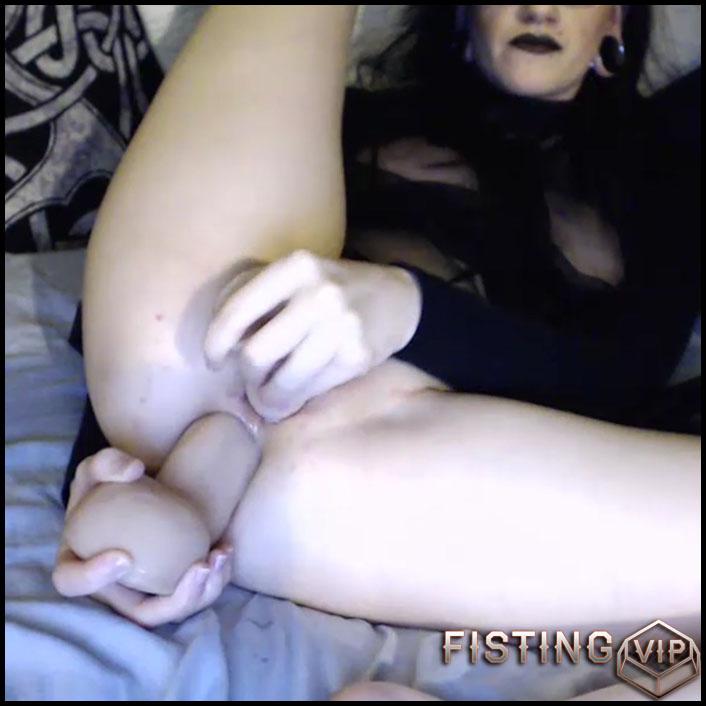 Webcam girl cottontailmonroe double dildos penetrated herself - dildo anal, dildo penetration, dildo porn (Release January 17, 2017)