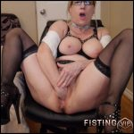 Gartersex JOI fisting secretary cum eating boss homemade – HD-720p, amateur fisting, solo fisting (Release March 9, 2018)