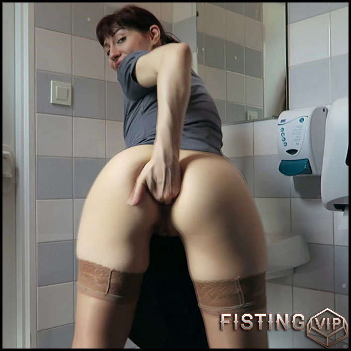 Mylene public toilet quickie – exciting summer fisting pron - Full HD-1080p, anal fisting, public fisting, solo fisting (Release March 29, 2018)