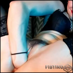 Hairy girl AdalynnX fisted her gaping cunt closeup homemade – pussy fisting, solo fisting (Release April 27, 2018)