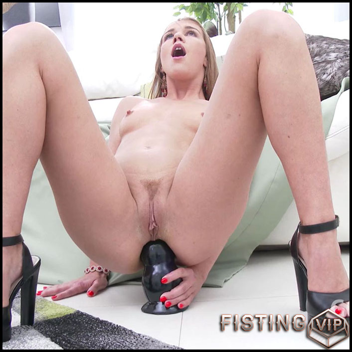 Stocking Dildo Ride Orgasm