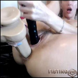 Dirty girl bbmix996 double dildo porn herself  – ball anal, double dildo, double penetration (Release May 11, 2018)