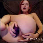 Milly17 stretched her cunt with long purple dildo – double dildo, pussy stretching (Release May 25, 2018)